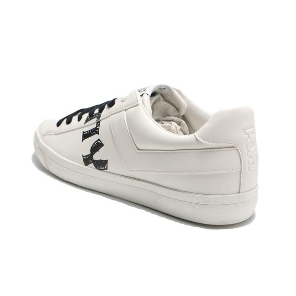 PONY 休閒鞋 白 皮革 鞋身大LOGO 英文字 板鞋 男 (布魯克林) 91M1TS05RW