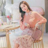 東京著衣【YOCO】微甜日常優雅花邊蕾絲領袖襯衫-S.M.L(180208)