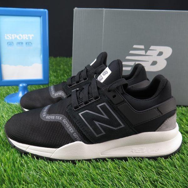 【iSport愛運動】New Balance 跑鞋 公司正品 MS247GTX 男女款 寬楦 GORE TEX 黑