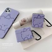 AirPods耳機套款潮紫色小熊
