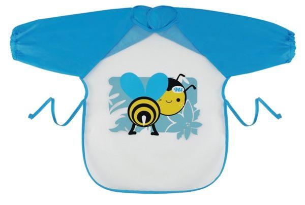 Naforye 拉孚兒 擦可淨用餐圍兜(長袖型)  -  蜜蜂