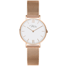 J&V 時尚石英 米蘭帶 手錶(R32....