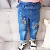 女童褲 秋裝新款女童休閒長褲春秋寶寶軟牛仔褲1兒童寬鬆褲子2-3-4歲潮童 米蘭街頭