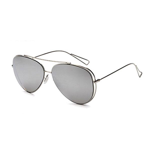OT SHOP 太陽眼鏡 抗UV400 中性情侶款 帥氣個性墨鏡 全金屬框 倒三角細鏡腳 現貨六色 NP16