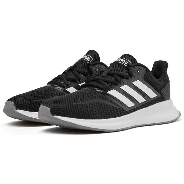 Adidas RUNFALCON 女鞋 慢跑 訓練 輕量 透氣 黑 【運動世界】F36218