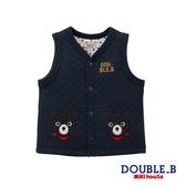 DOUBLE_B 黑熊棉質保暖背心