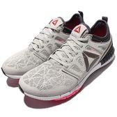 【六折特賣】Reebok 慢跑鞋 ZPrint 3D EX 灰 粉紅 白底 輕量舒適 大LOGO 路跑專門 女鞋【PUMP306】 AR2926