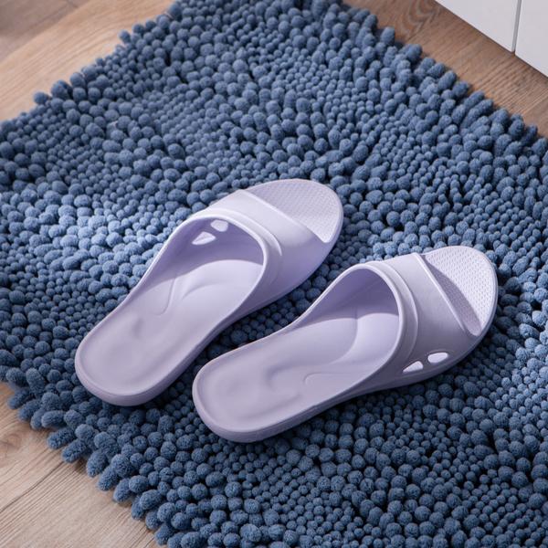 【店長超值推薦6折起】Q彈氣墊家居拖鞋-紫M-生活工場