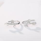 【新飾界】耳環:S925純銀嫩葉奶女耳環