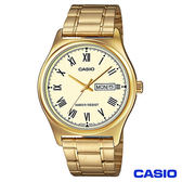 CASIO卡西歐 簡潔經典金色時光鋼帶腕錶 MTP-V006G-9B