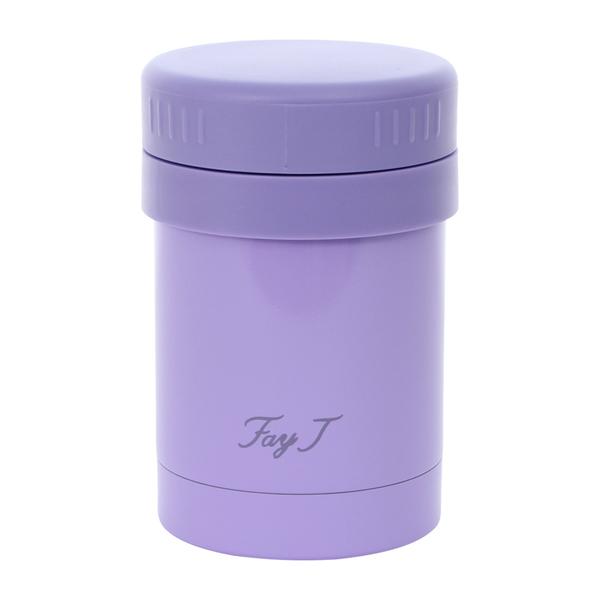 FayJ菲姐 雅緻真空燜燒杯400cc-紫 保溫杯 不銹鋼 隨身瓶 隨行杯 保溫保冷 好生活