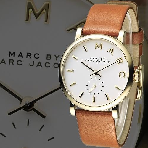 MARC By Marc Jacobs 時空詩人知性錶-金框/咖啡(MBM1316)
