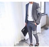 《澤米》飛鸞鳥韓風成套西服 西裝外套+褲子二件套 四條槓西裝褲 日式男士休閒修身時尚帥氣西服