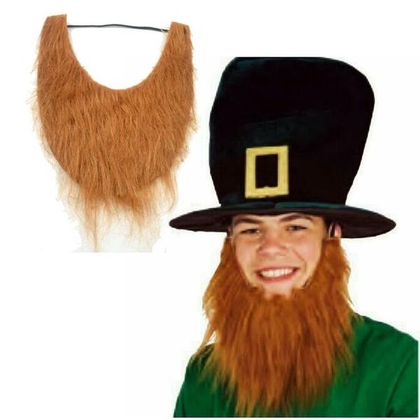 【塔克】U型 鬍子 假鬍子海盜棕色 塔利班 絡腮鬍假鬍子 萬聖節/派對/服裝/角色扮演/變裝