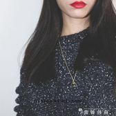 云上城堡項錬~毛衣錬原創超仙女星星空鍍18k包金日系韓國中長錬 薔薇時尚