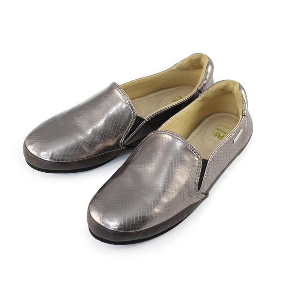Paidal 金屬系漆亮皮蛇紋休閒鞋-古銅金
