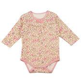 【愛的世界】純棉玫瑰長袖連身衣/6個月~2歲-台灣製- ★幼服推薦