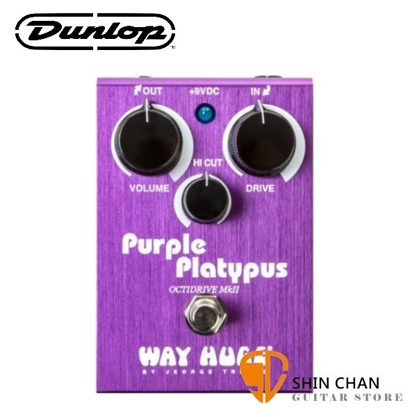 Dunlop WHE800 破音效果器【Purple Platypus/OctiDrive MKII/Way Huge/WHE-800】