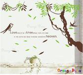 壁貼【橘果設計】燕子 DIY組合壁貼/牆貼/壁紙/客廳臥室浴室幼稚園室內設計裝潢