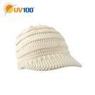 UV100 防曬 抗UV 保暖針織鴨舌帽-附馬尾洞