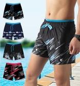泳褲男 泳褲男防尷尬泡溫泉平角男士套裝泳衣游泳短褲裝備寬松沙灘褲大碼 交換禮物
