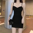 抹胸洋裝 2021蹦迪女裝性感氣質小黑裙抹胸辣妹吊帶修身顯瘦緊身連身裙子夏 寶貝 618狂歡