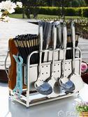 不銹鋼廚房架砧板架菜架案板架子座具用品掛鍋鏟架筷子筒多色小屋
