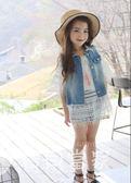 韓版男女童裝牛仔馬甲春夏秋18新款小朋友女寶寶中大兒童背心外套