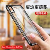 【TT】LEEU DESIGN新款iPhone xs 電鍍轉聲盾 轉聲孔tpu手機殼 蘋果xs max氣囊透明防摔殼xr保護套