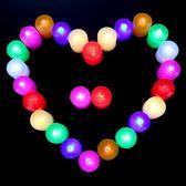 創意圓形電子小蠟燭燈泡LED發光電池燈光DIY浪漫裝飾場景布置 LI1676『美鞋公社』