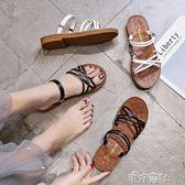 兩穿牛筋底拖鞋外穿鞋子涼鞋夏季時尚平底百搭涼拖鞋女鞋 港仔會社