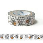 ★funbox生活用品★《Shinzi Katoh 加藤真治》紙膠帶15mm(小蜜蜂築巢)_ZI02363