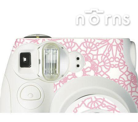 Norns MINI7S 專用FUJIFILM日本富士原廠拍立得相機機身貼紙【White Lacework款】Norns