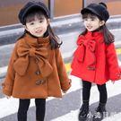 大碼毛呢外套 新款女童小女孩冬季外套小童兒童裝女大童冬款毛呢大衣 qf16080【小美日記】