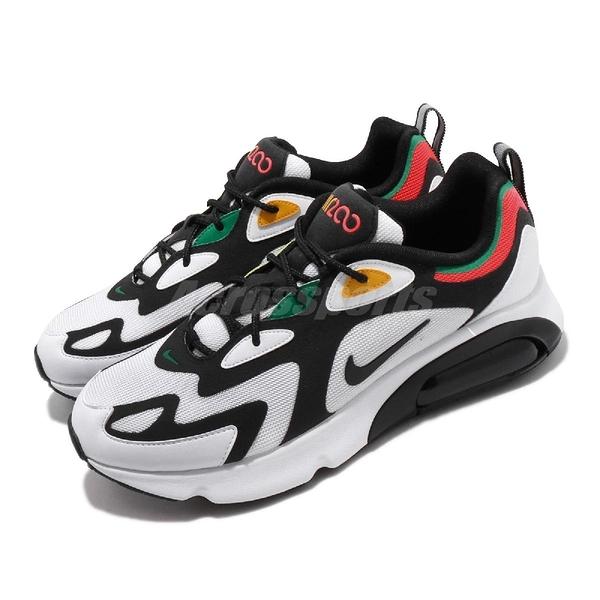 Nike 休閒鞋 Air Max 200 白 黑 男鞋 女鞋 氣墊 【PUMP306】 AQ2568-101