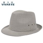 夏季男士帽子中老年人帽子老人帽亞麻透氣戶外禮帽遮陽帽爵士涼帽 錢夫人