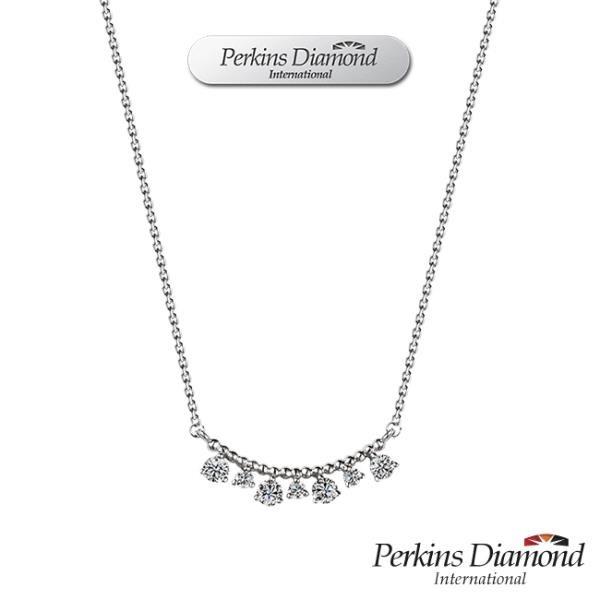 【南紡購物中心】PERKINS 伯金仕 Drop系列 18K金 鑽石項鍊