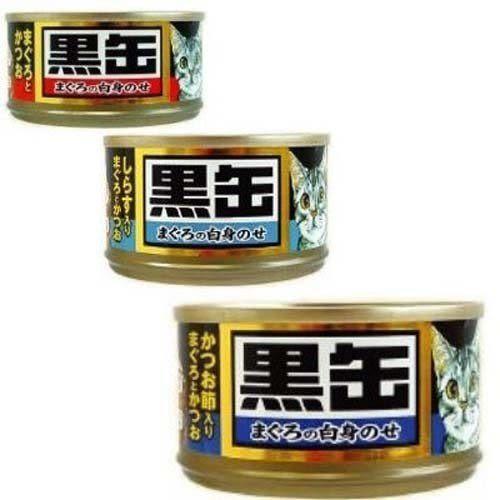 【培菓平價寵物網】日本AIXIA 愛喜雅《黑缶》(黑罐)貓罐頭-80g*1罐