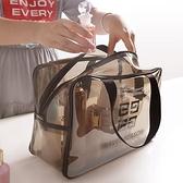 網紅化妝包ins風超火便攜女旅行大容量透明防水洗漱包品收納袋盒 「雙11狂歡購」