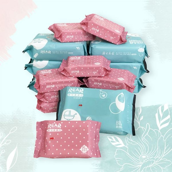 REAR 麗兒采家 EDI超純水嬰兒柔濕巾/濕紙巾 25抽6包