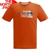 【The North Face 男款 SCafe短袖T恤 木瓜橘】NF00CZJ4/短袖/T恤/排汗衣★滿額送