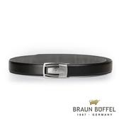【BRAUN BUFFEL】沉穩內斂紳士自動扣皮帶(銀色)BF19B-003T-SNK