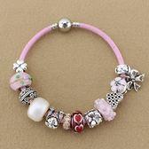 串珠手鍊-粉色系列琉璃飾品時尚百搭女配件73kc232【時尚巴黎】