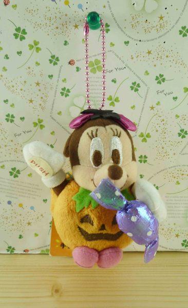 【震撼精品百貨】Micky Mouse_米奇/米妮 ~絨毛鑰匙圈-南瓜米妮