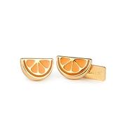 COACH 可愛柳橙片造型穿式耳環193708