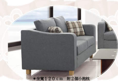 【南洋風休閒傢俱】沙發系列- 布料椅  造型椅 宇智雙人布沙發  (JH614-4)