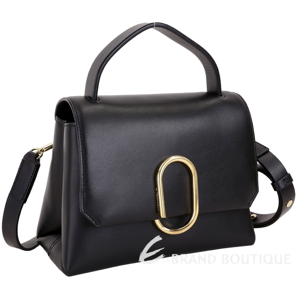3.1 Phillip Lim Alix 金屬迴紋針造型手提肩背包(黑色) 1840256-01