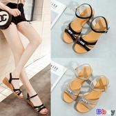 Bbay 楔型涼鞋 涼鞋 坡跟 中跟 時尚 羅馬 平底 女鞋