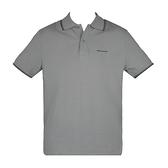 【南紡購物中心】ARMANI JEANS 經典刺繡LOGO滾邊短袖POLO衫-灰