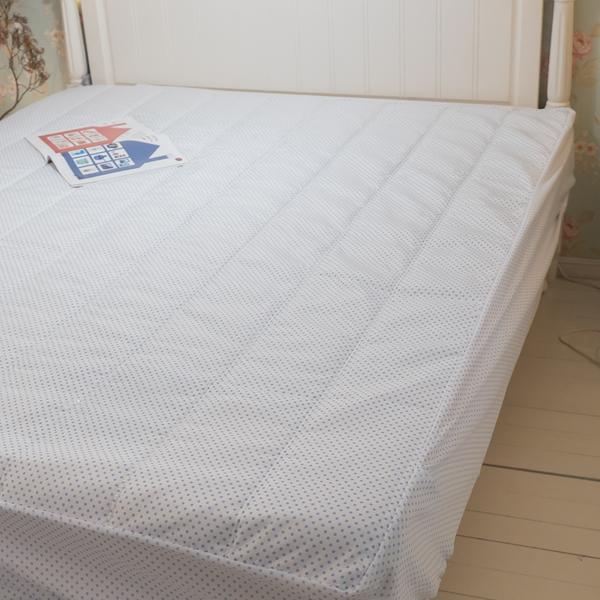 床包式保潔墊(點點)  單人 3.5X6.2  抗菌防螨防污 厚實鋪棉 可水洗 台灣製 棉床本舖
